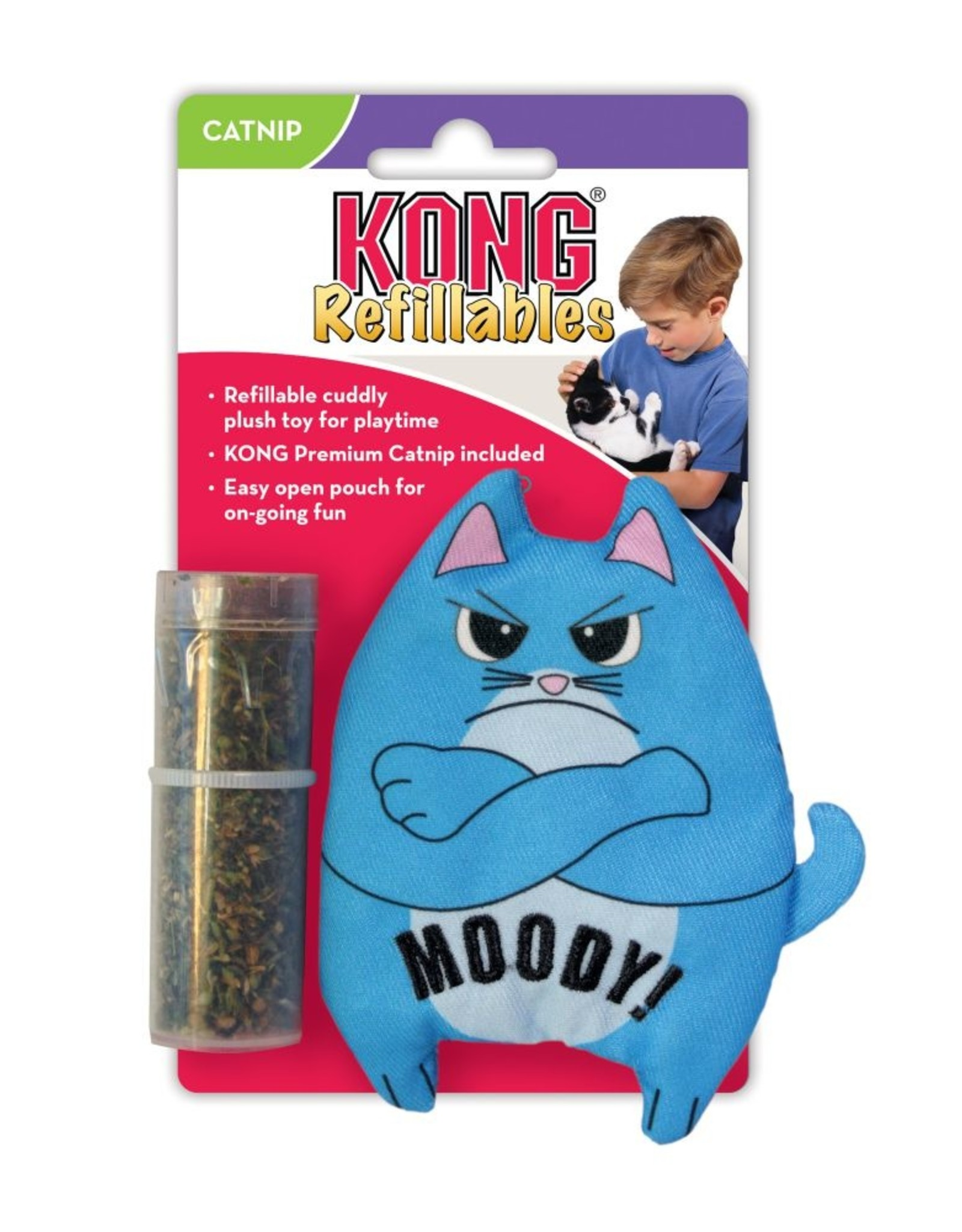 KONG COMPANY KONG REFILLABLES PURRSONALITY MOODY CAT TOY