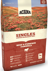 CHAMPION PET FOOD ACANA DOG SINGLES BEEF & PUMPKIN 25LBS