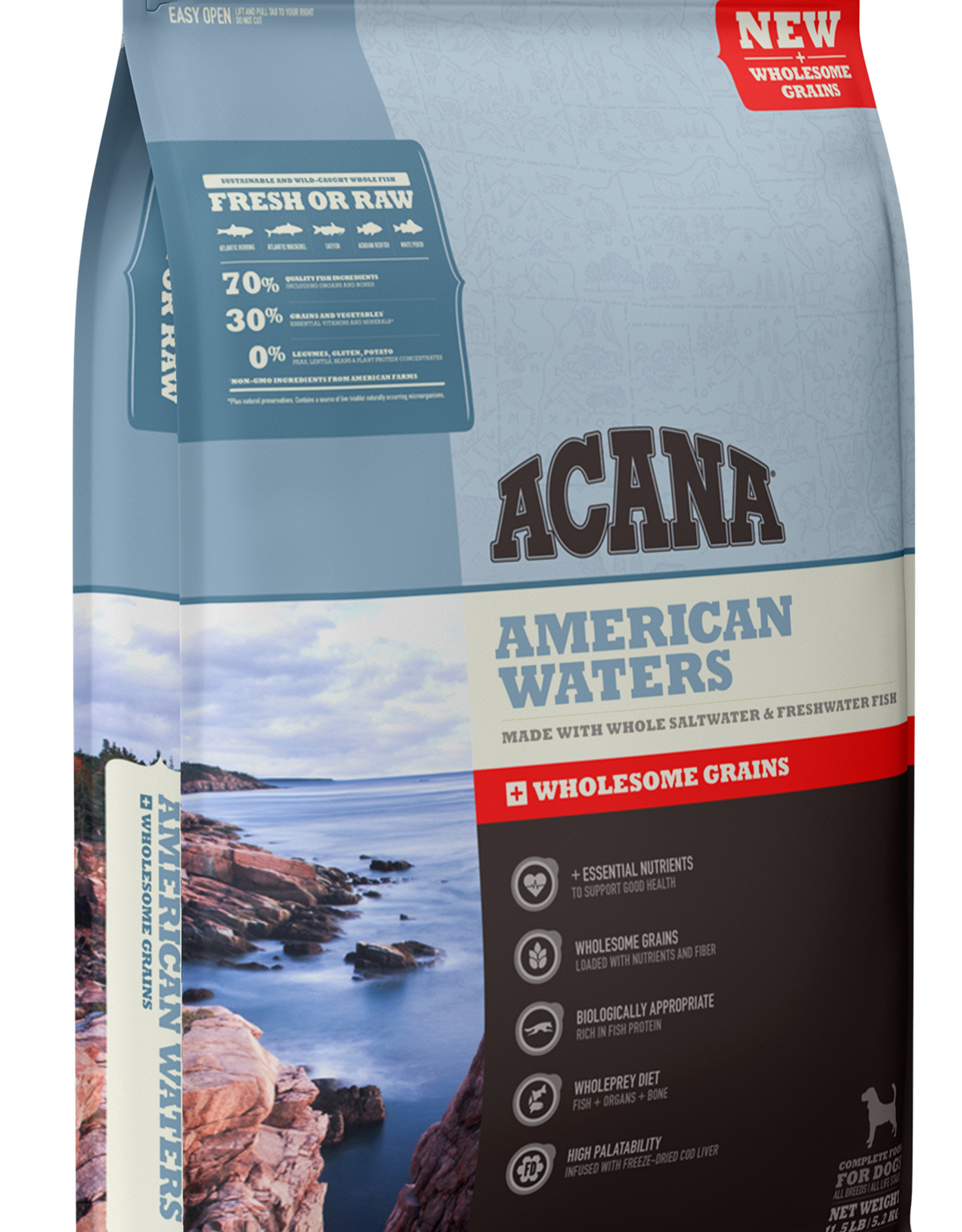 CHAMPION PET FOOD ACANA AMERICAN WATERS WHOLESOME GRAINS 22.5LBS