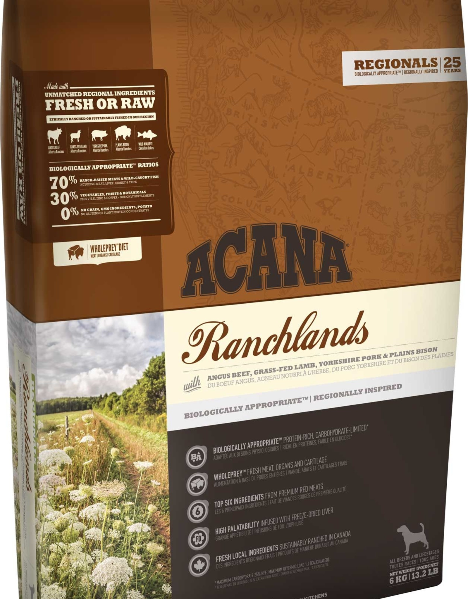 CHAMPION PET FOOD ACANA DOG RANCHLANDS 28.6LBS