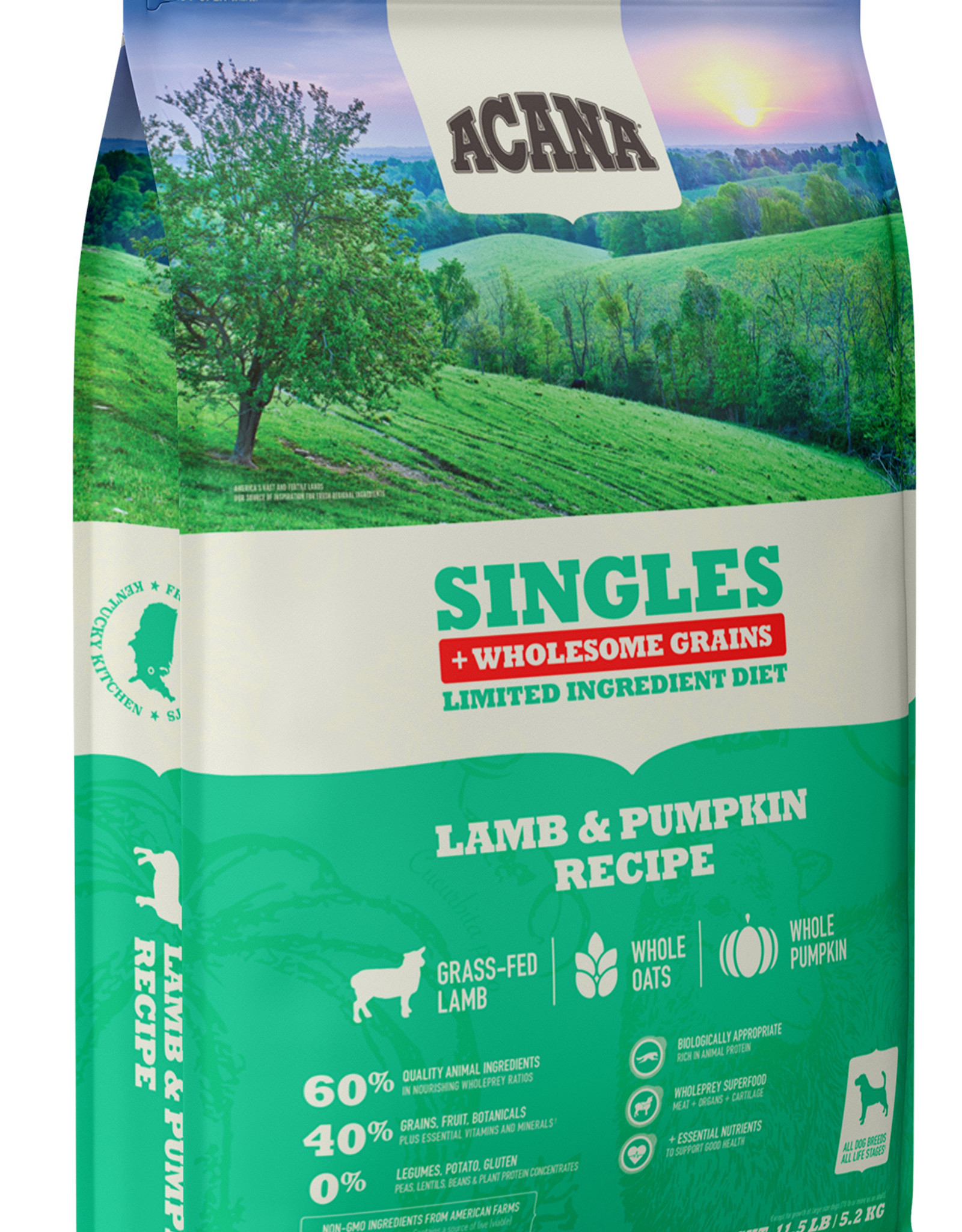 CHAMPION PET FOOD ACANA SINGLES LAMB & PUMPKIN WHOLESOME GRAINS 22.5LBS