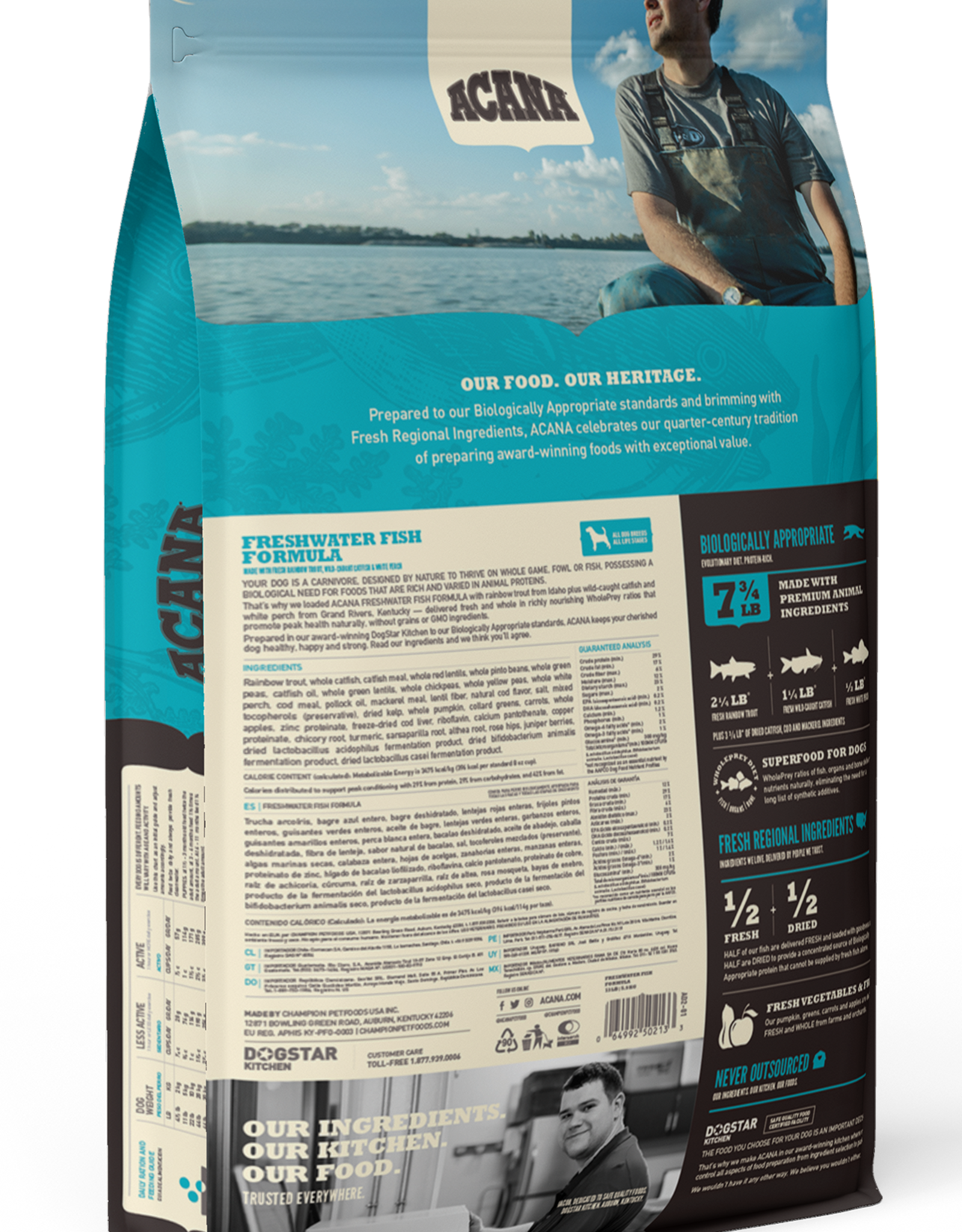 CHAMPION PET FOOD ACANA DOG FRESHWATER FISH 25LBS