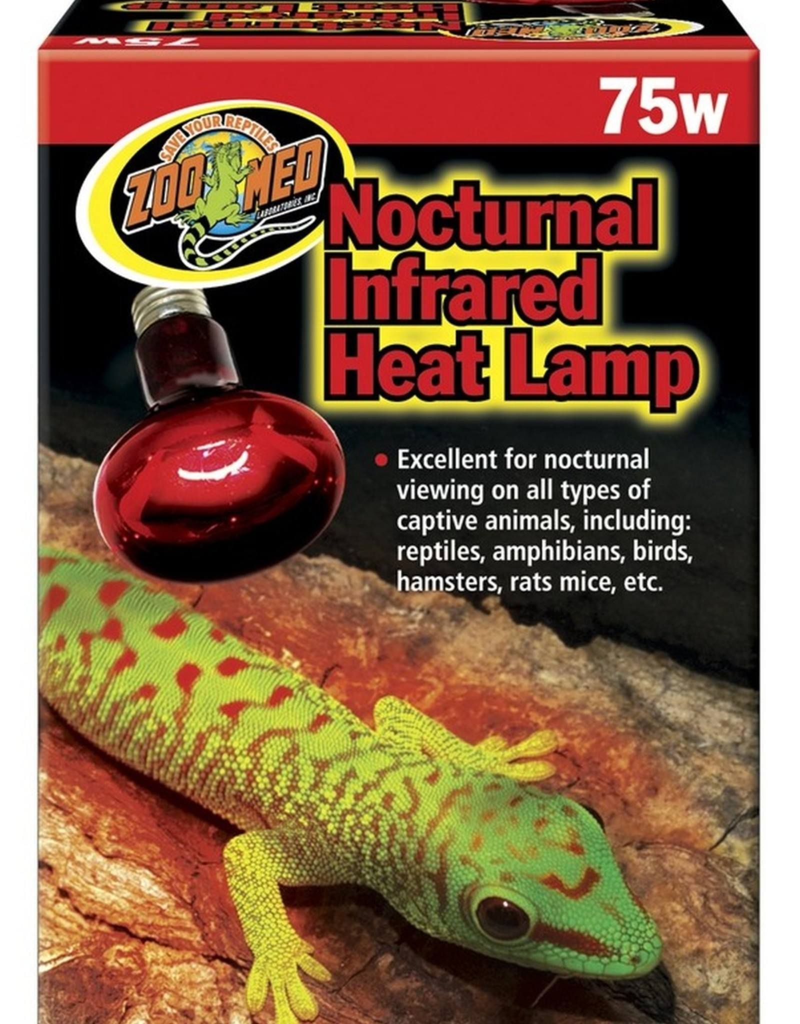 ZOO MED LABS INC BULB INFRARED HEAT SPOT LAMP 75WT ZOO MED