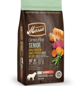 MERRICK PET CARE, INC. MERRICK GRAIN FREE SENIOR CHICKEN & SWEET POTATO 10#