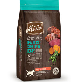 MERRICK PET CARE, INC. MERRICK GRAIN FREE DUCK & SWEET POTATO 12LBS