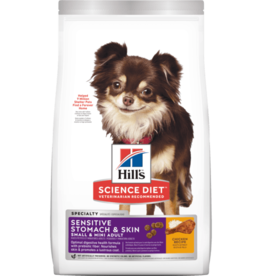 SCIENCE DIET HILL'S SCIENCE DIET CANINE SENSITIVE STOMACH & SKIN SMALL & MINI ADULT 4LBS
