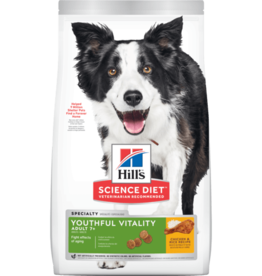 SCIENCE DIET HILL'S SCIENCE DIET CANINE ADULT 7+ YOUTHFUL VITALITY CHICKEN 12.5LBS