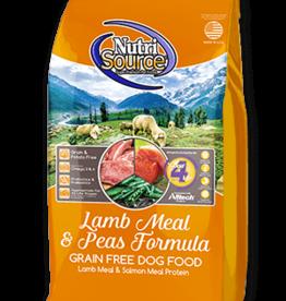 NUTRISOURCE NUTRISOURCE DOG GRAIN FREE LAMB & PEAS 30#