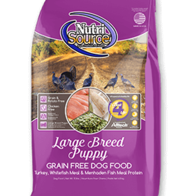 NUTRISOURCE NUTRISOURCE DOG GRAIN FREE PUPPY LARGE BREED 15LBS