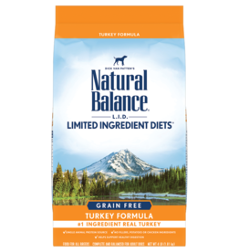 NATURAL BALANCE PET FOODS, INC NATURAL BALANCE DOG GRAIN FREE LID TURKEY 4LBS