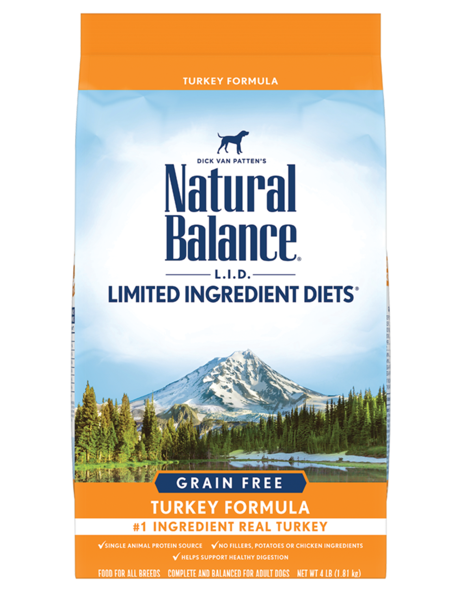 NATURAL BALANCE PET FOODS, INC NATURAL BALANCE DOG GRAIN FREE LID TURKEY 12LBS