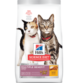 SCIENCE DIET HILL'S SCIENCE DIET FELINE ADULT MULTI-CAT MULTIPLE BENEFIT CHICKEN 15.5LBS