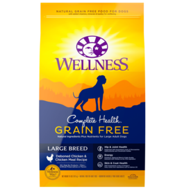WELLPET LLC WELLNESS COMPLETE HEALTH GRAIN FREE LARGE BREED CHICKEN 24LBS