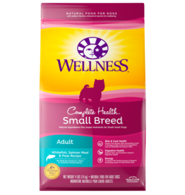 WELLPET LLC WELLNESS DOG SMALL BREED ADULT WHITEFISH SALMON & PEAS 4LBS