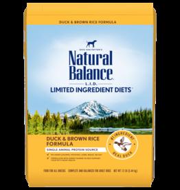 NATURAL BALANCE PET FOODS, INC NATURAL BALANCE LID DUCK & RICE 12LBS