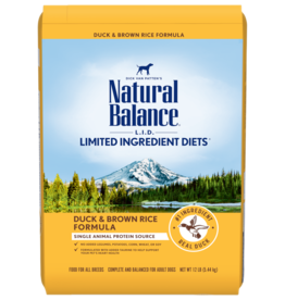 NATURAL BALANCE PET FOODS, INC NATURAL BALANCE LID DUCK & RICE 26LBS