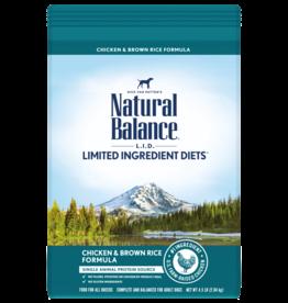 NATURAL BALANCE PET FOODS, INC NATURAL BALANCE DOG GRAIN FREE LID CHICKEN & BROWN RICE  4.5LBS