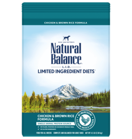NATURAL BALANCE PET FOODS, INC NATURAL BALANCE DOG GRAIN FREE LID CHICKEN & BROWN RICE 12LBS