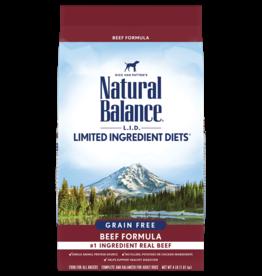NATURAL BALANCE PET FOODS, INC NATURAL BALANCE DOG LID GRAIN FREE BEEF 4LBS