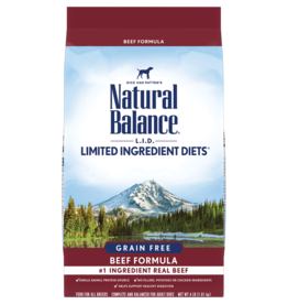 NATURAL BALANCE PET FOODS, INC NATURAL BALANCE DOG LID GRAIN FREE BEEF 12lbs