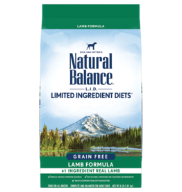 NATURAL BALANCE PET FOODS, INC NATURAL BALANCE DOG GRAIN FREE LID LAMB 12LBS