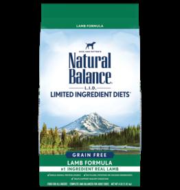 NATURAL BALANCE PET FOODS, INC NATURAL BALANCE DOG GRAIN FREE LID LAMB 24lbs
