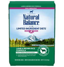 NATURAL BALANCE PET FOODS, INC NATURAL BALANCE DOG LID LAMB & RICE SMALL BREED BITES 12LBS