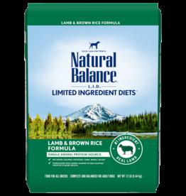 NATURAL BALANCE PET FOODS, INC NATURAL BALANCE DOG LID LAMB & RICE 12lbs