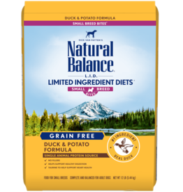 NATURAL BALANCE PET FOODS, INC NATURAL BALANCE DOG LID DUCK & POTATO SMALL BREED BITES 12LBS
