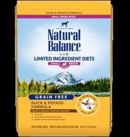 NATURAL BALANCE PET FOODS, INC NATURAL BALANCE DOG GRAIN FREE LID DUCK & POTATO SMALL BREED BITES 4lbs