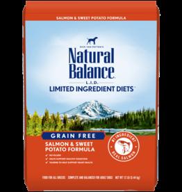 NATURAL BALANCE PET FOODS, INC NATURAL BALANCE DOG GRAIN FREE LID SALMON & SWEET POTATO 13LBS