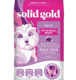 SOLID GOLD SOLID GOLD DOG WEE BIT BISON & BROWN RICE 4LBS