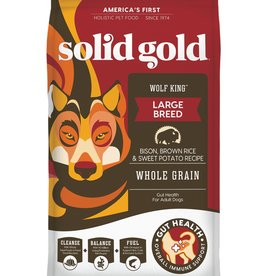 SOLID GOLD SOLID GOLD WOLF KING BISON & BROWN RICE 12LBS