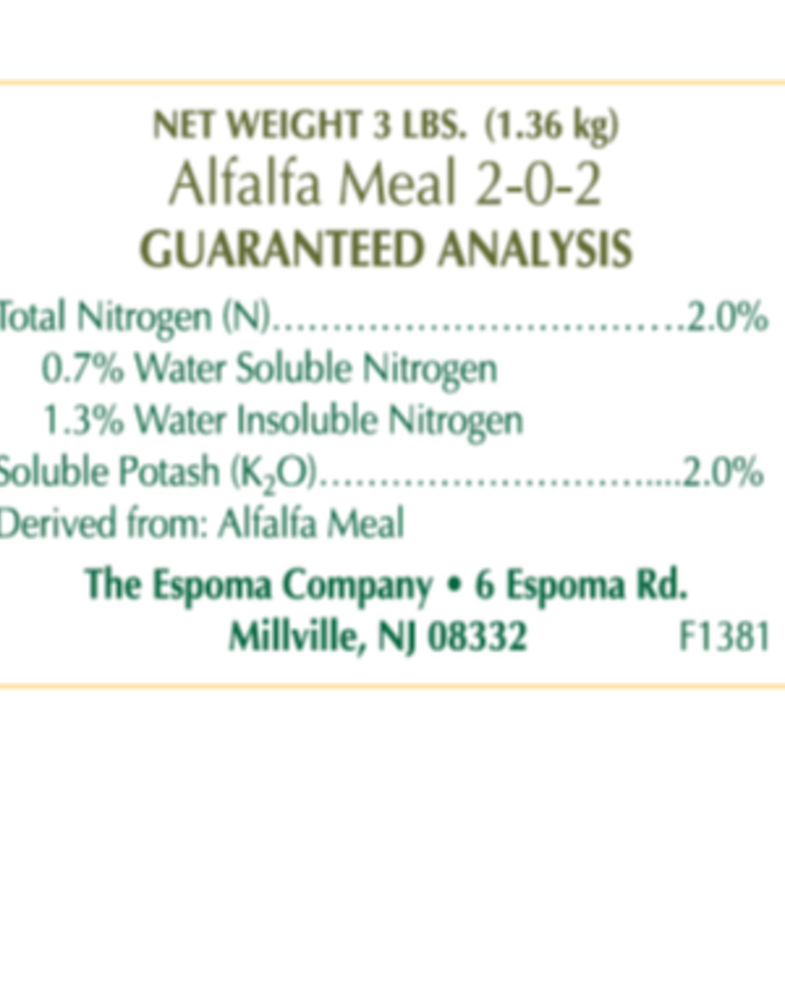 ESPOMA COMPANY ESPOMA ALFALFA MEAL 3lbs