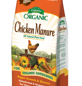 ESPOMA COMPANY ESPOMA ORGANIC CHICKEN MANURE ALL NATURAL PLANT FOOD 25 lbs