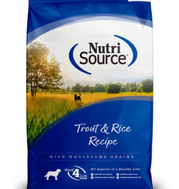 NUTRISOURCE NUTRISOURCE DOG TROUT & RICE 30LBS