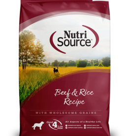 NUTRISOURCE NUTRISOURCE DOG BEEF & BROWN RICE 30LBS
