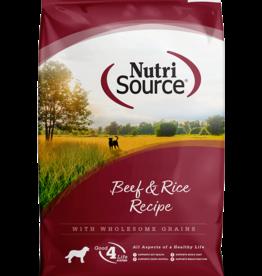 NUTRISOURCE NUTRISOURCE DOG BEEF & BROWN RICE 15#