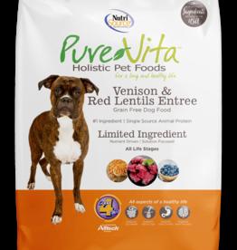 NUTRISOURCE NUTRISOURCE PURE VITA DOG GRAIN FREE VENISON & RED LENTILS 25LBS