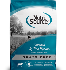 NUTRISOURCE NUTRISOURCE DOG GRAIN FREE CHICKEN & PEA 15#