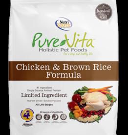 NUTRISOURCE NUTRISOURCE PURE VITA DOG CHICKEN & BROWN RICE 25LBS