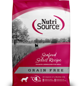 NUTRISOURCE NUTRISOURCE DOG GRAIN FREE SEAFOOD SELECT 30LBS