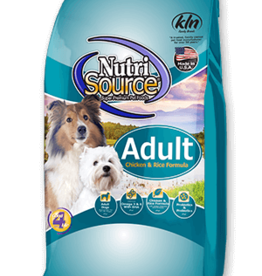 NUTRISOURCE NUTRISOURCE DOG ADULT CHICKEN & RICE 30LBS