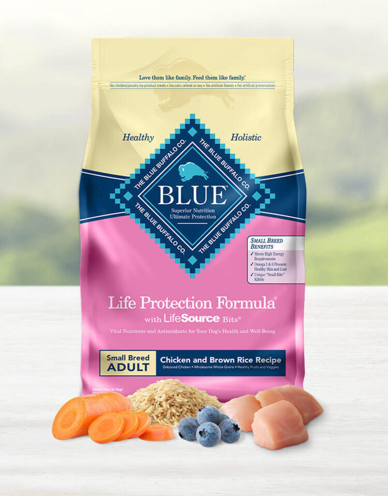 BLUE BUFFALO COMPANY BLUE BUFFALO DOG LPF ADULT SMALL BREED CHICKEN & RICE 6LBS