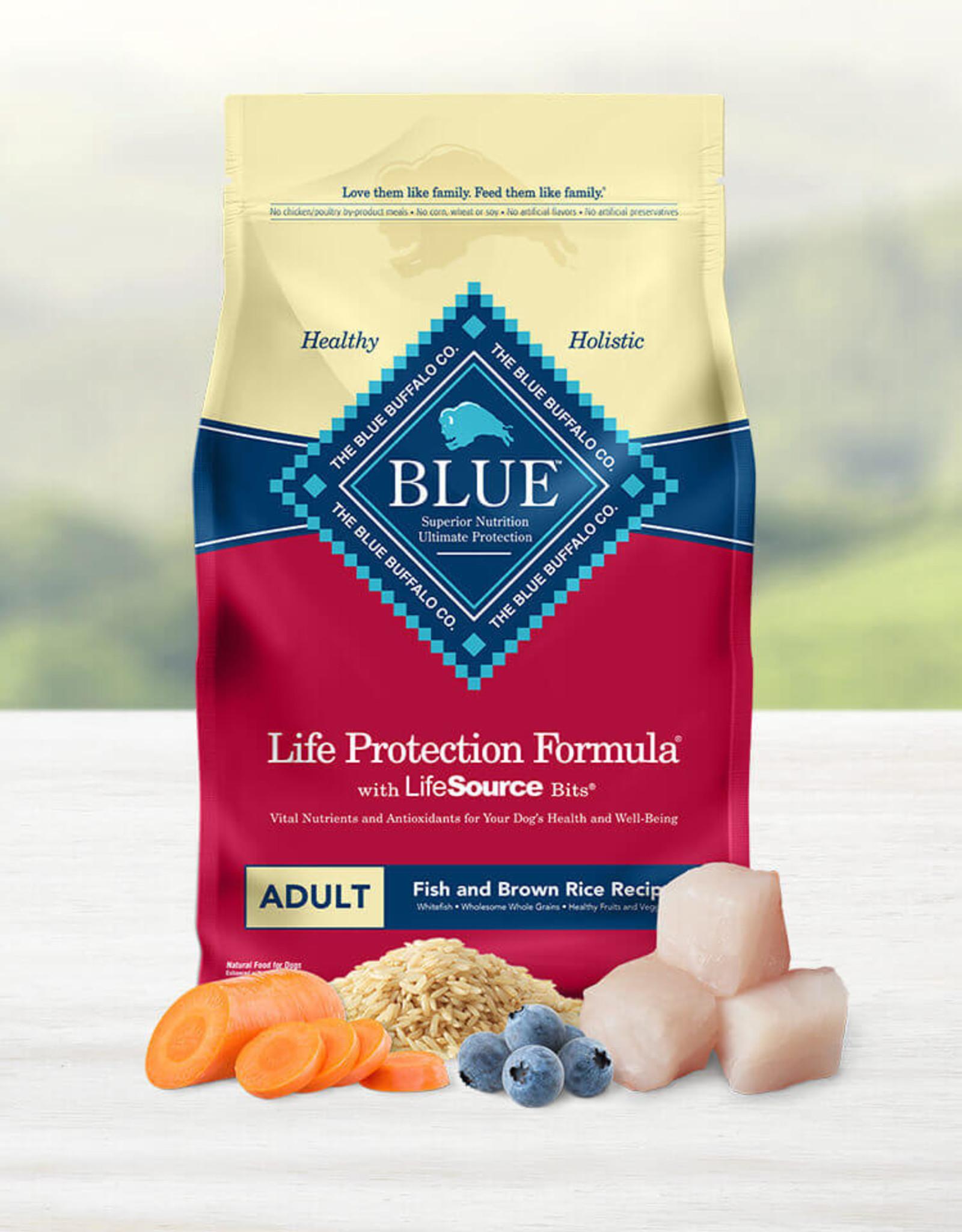 BLUE BUFFALO COMPANY BLUE BUFFALO DOG LPF ADULT FISH & BROWN RICE 30LBS