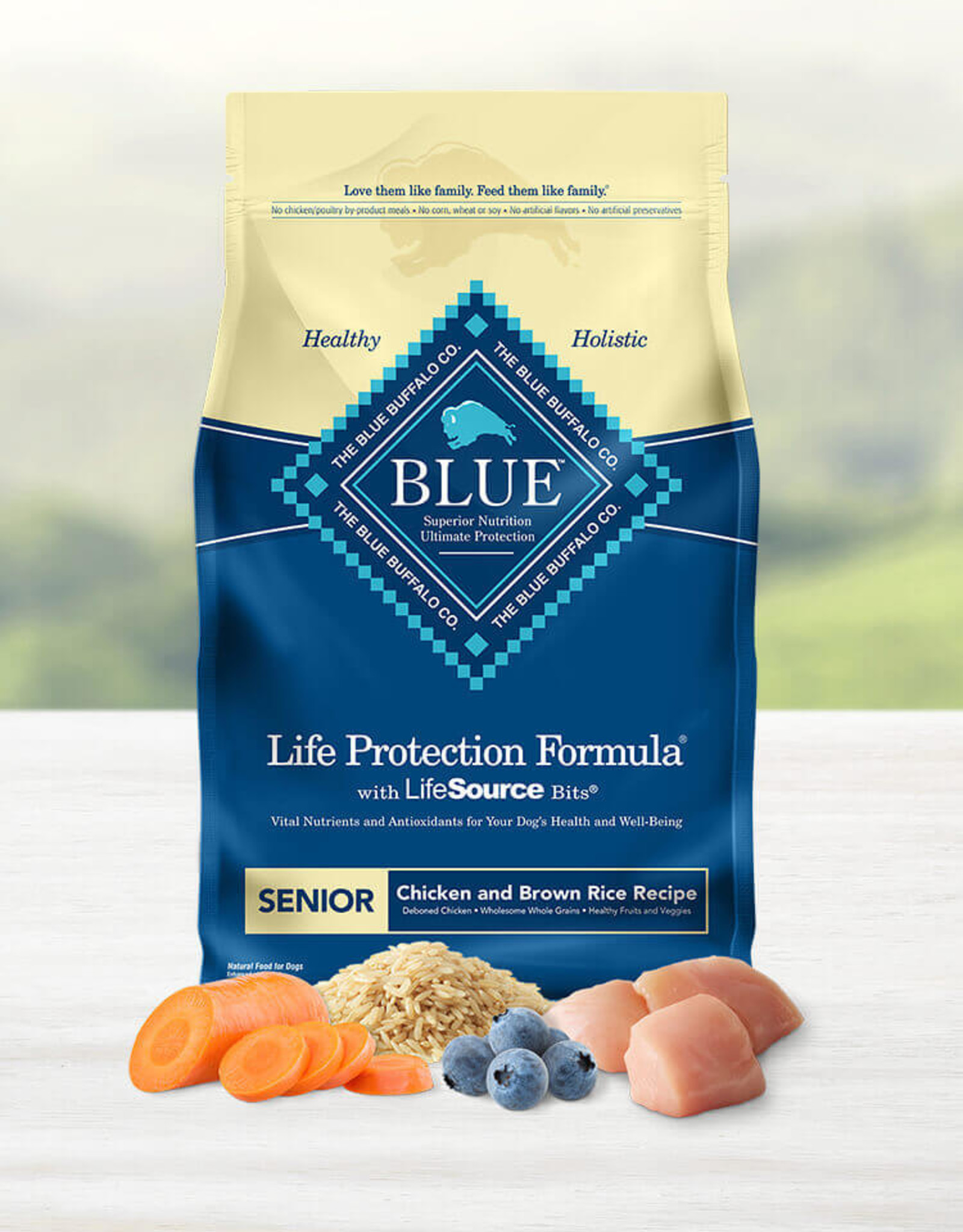 BLUE BUFFALO COMPANY BLUE BUFFALO DOG LPF SENIOR CHICKEN & RICE 30LBS