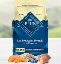 BLUE BUFFALO COMPANY BLUE BUFFALO DOG LPF SENIOR CHICKEN & RICE 15LBS