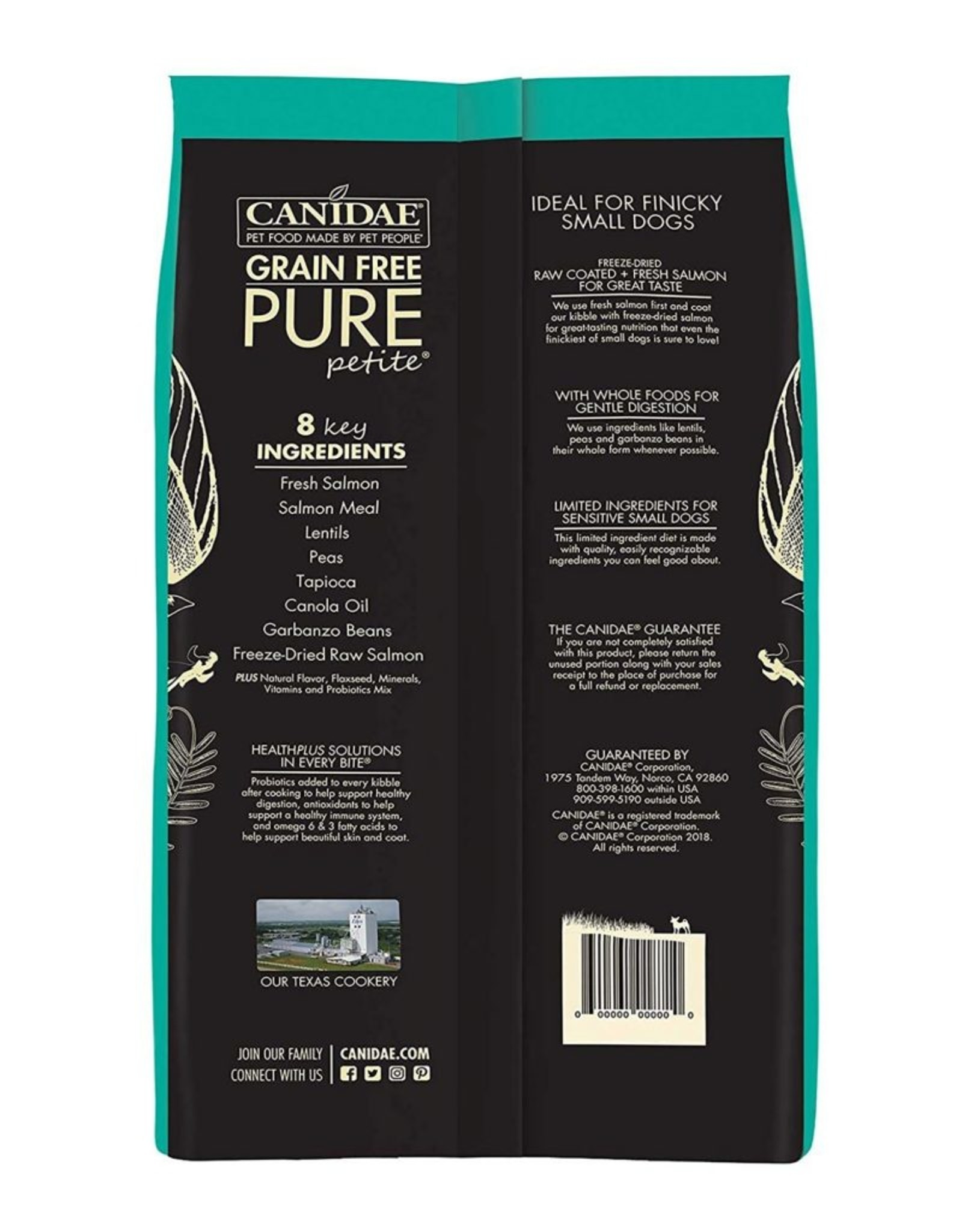 CANIDAE PET FOODS CANIDAE DOG PURE SMALL BREED PUPPY RAW COATED SALMON 10LBS