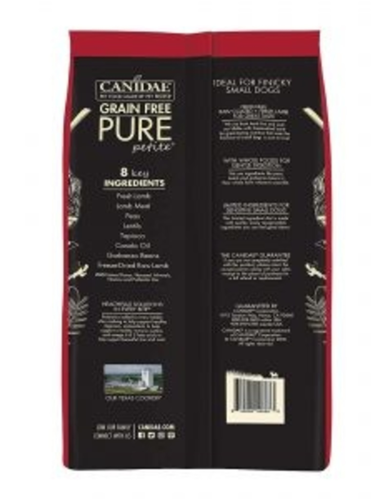 CANIDAE PET FOODS CANIDAE DOG PURE SMALL BREED RAW COATED LAMB 4LBS