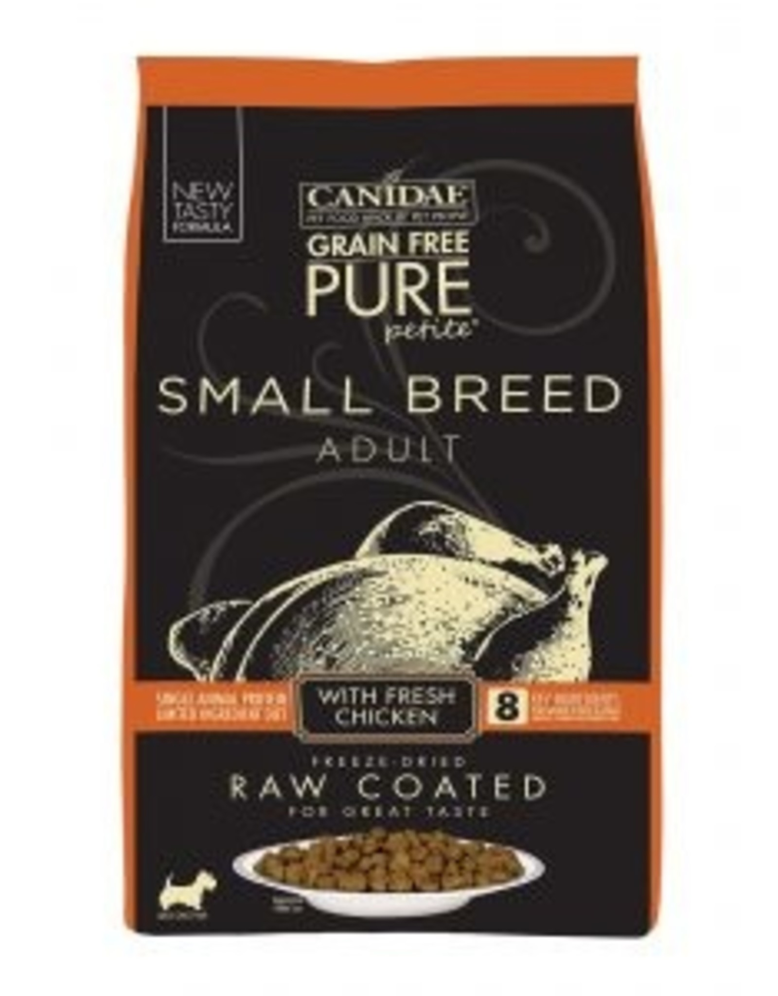 CANIDAE PET FOODS CANIDAE DOG PURE SMALL BREED RAW COATED CHICKEN 10LBS